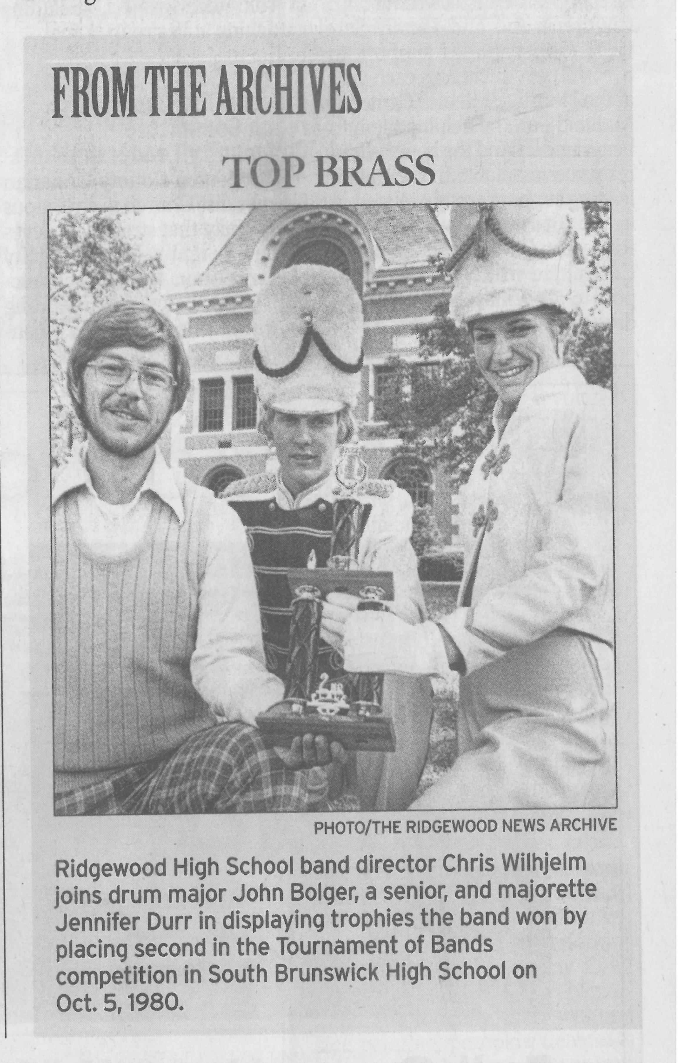 RHSMB 1980 Newspaper Wilhjelm