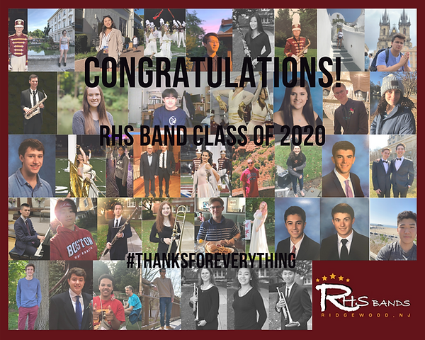 RHS Band Senior Graduation Collage 2020.