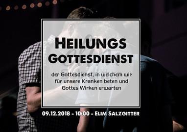 So. 9.12.18 Heilungsgottesdienst