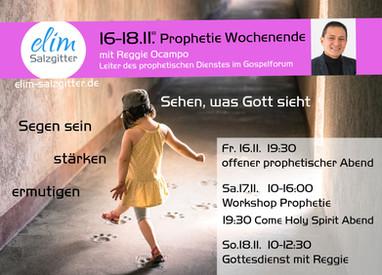 16.-18.11. Prophetie Wochenende