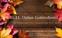 Info: Online Gottesdienst am 01.11.