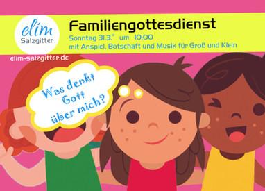 So. 31.3. Familiengottesdienst