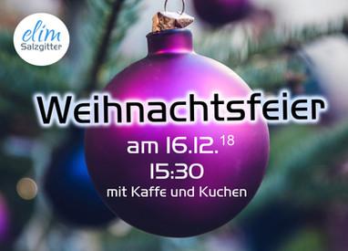 So. 16.12.18 Weihnachtsfeier