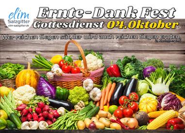 Ernte- Dank Fest
