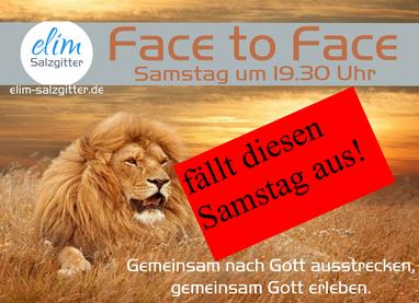28.11. Face2Face fällt aus