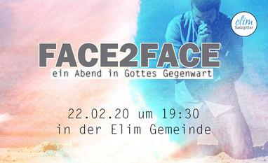 Sa. 22.02. Face2Face Anbetungsabend