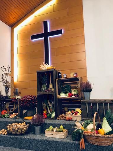 Ernte- Dank Gottesdienst Einblick