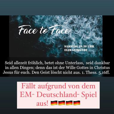 19.06. Face2Face fällt aus