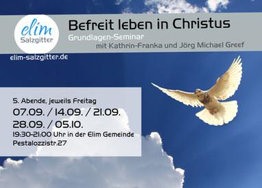 Seminar - Befreit leben in Christus