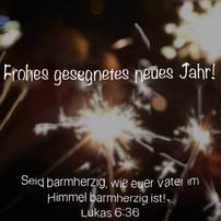 Frohes und gesegnetes neues Jahr