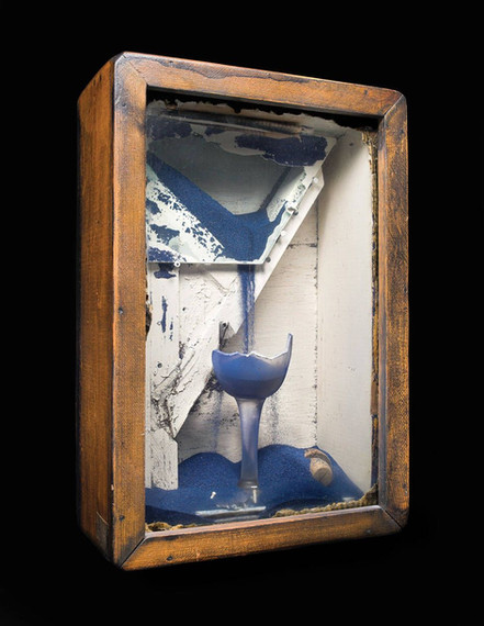 Joseph Cornell, Untitled (Blue Sand Foun