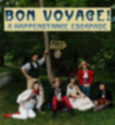 Small Bon Voyage Portrait by Leslie Swan