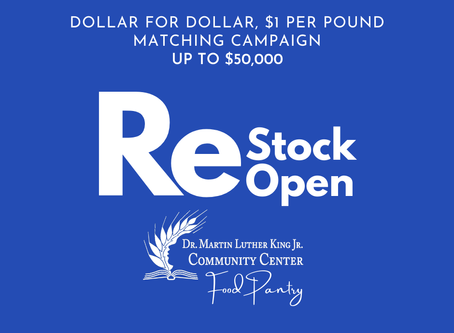 ACTION ALERT 🔔 ReStock to ReOpen the Food Pantry