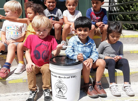 Environmental Stewardship at the MLK: Composting with Rhodeside Revival is growing on preschoolers