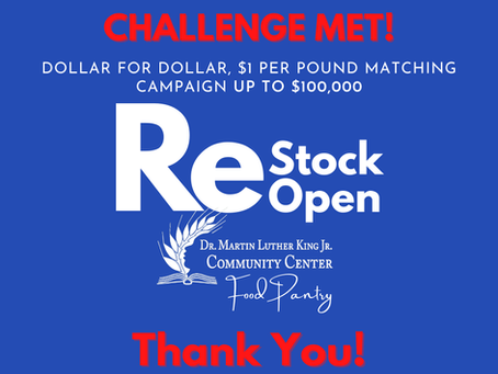 YOU DID IT! 👏 ReStock to ReOpen the Food Pantry