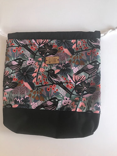 Birds and floral canvas