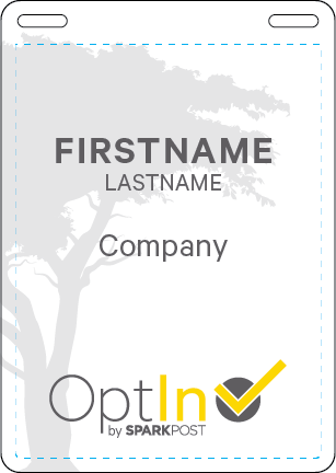 OptIn_Swag_Name Badge_Front 4.25x6in_101