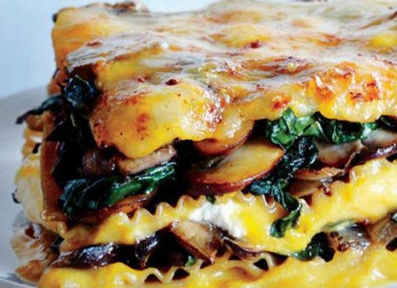 Butternut, Mushroom & Spinach Lasagne:  Serves 1- 2