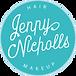 Jennynichollsmakeup logo reverse colour.