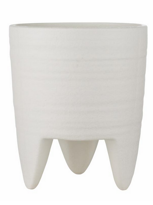 Belle Flower Pot White