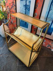 Gilded metal frame bookcase
