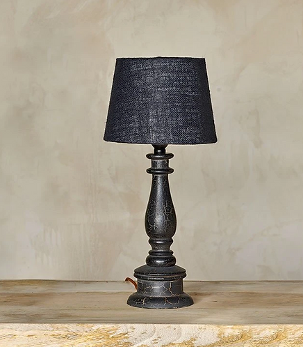 Urku Crackle Candlestick Lamp