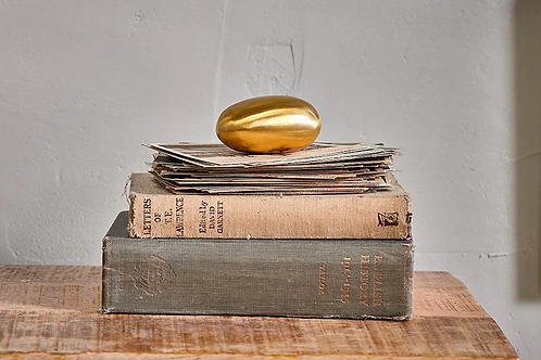 Marjani Brass Paperweight - Antique Brass