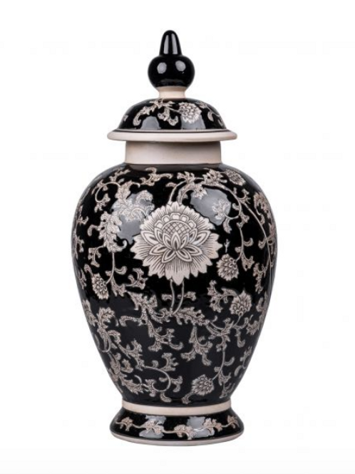 Mandalay Medium Jar - Black