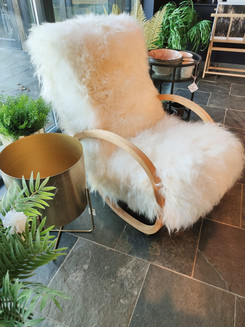 Icelandic sheepskin Suparest chair.
