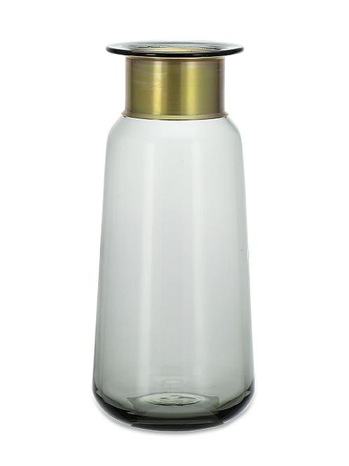 Miza Glass Vase - Smoke