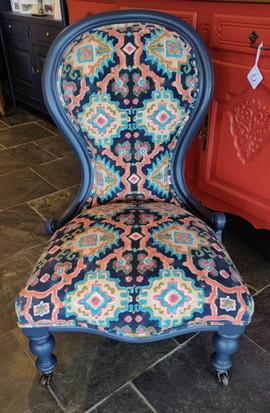 Restyled Victorian Nursing Chair