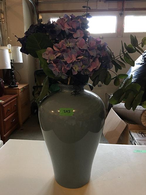 "WB - 203 - Blue Vase W/Zfaux Flowers - 20""T"