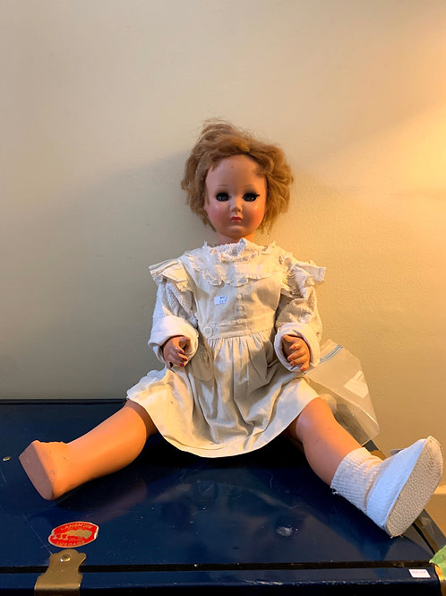 "MR - 057 - Jointed Doll W/Side to Side Eyes - Missing Foot&Finger-28""T"