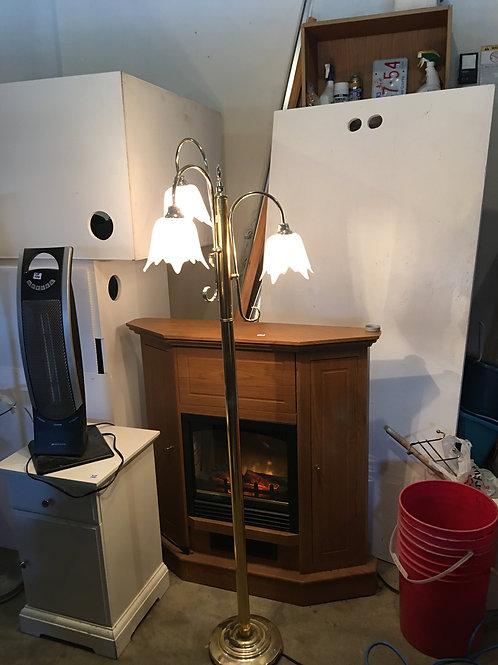 """WB - 040 - Glass Flower Floor Lamp 64""""T"""