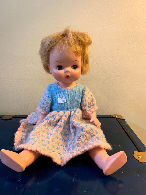"""MR - 049 - Dee Cee Doll W/Crochet Dress - 16""""T"""