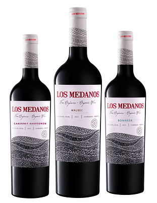 Los Medanos Organic Wines, La Paz - Mendoza. In South America, Médanos refers to continental dunes, rolling hills coming down from the Andes mountains. Los Médanos represent the geographic setting of our vineyards.  Naturally irrigated by the meltdown from the Andes, these wines are craftily made from vines over 8o+ years old.