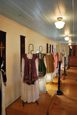 The museum's cassock collection