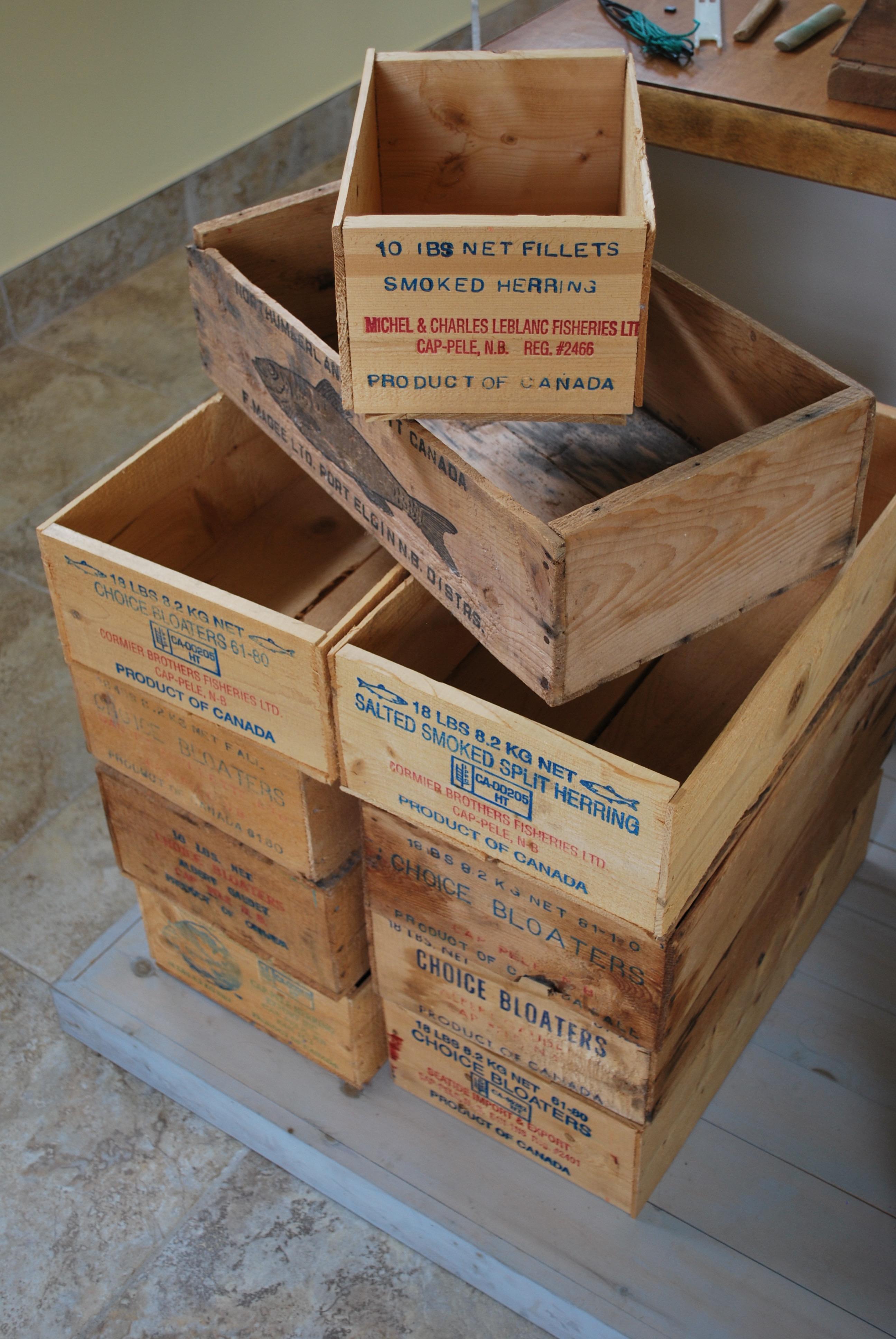 Boîtes de transport de hareng fumé