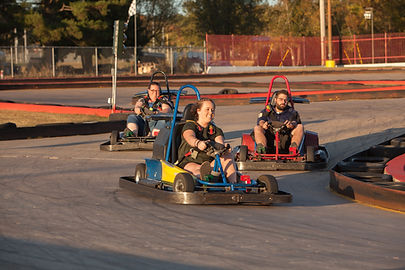 Go Karts Family Track Kids Having Fun