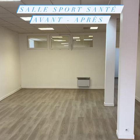 Salle sport-santé: Avant / Après