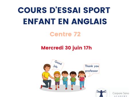 Cours d'essai Sport / Anglais enfant