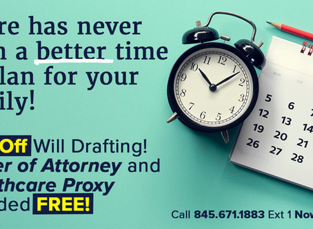 30% OFF Will Drafting! Health Care Proxy & Power of Attorney FREE!