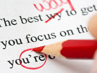 Top Three Tips for Proofreading Your Work