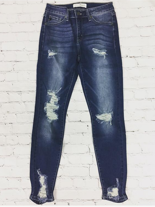 Kan Can Distressed Skinny Jeans