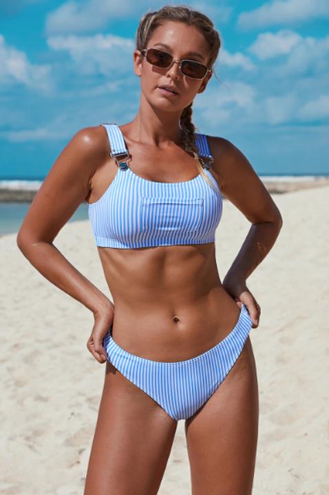 Striped Bib Bikini