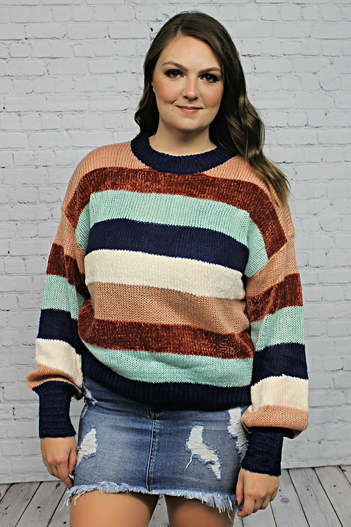 Ring My Bell Striped Sweater