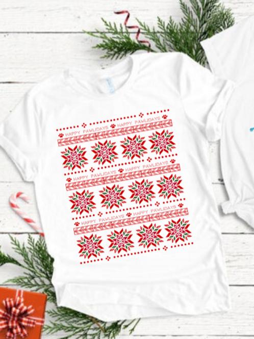 """""""Pug""""ly Christmas Sweater Tee"""