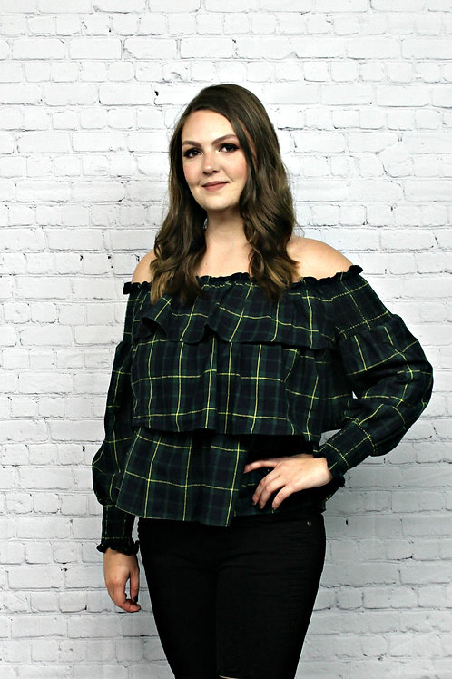 All Ruffled Up Flannel Top