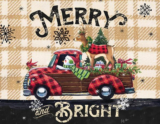 MERRY AND BRIGHT OLD TRUCK