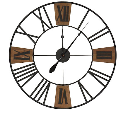 Weathered Time Metal Wall Clock